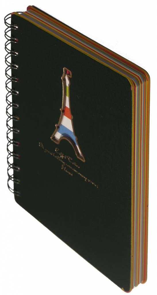 Dreamnotes Dreamnotes notitieboek Eiffeltoren 13 x 18,5 cm groen