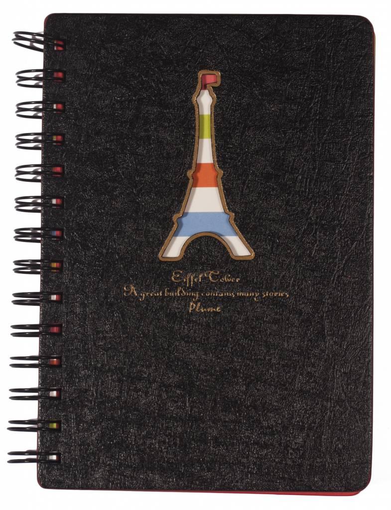 Dreamnotes Dreamnotes notitieboek Eiffeltoren 13 x 18,5 cm grijs