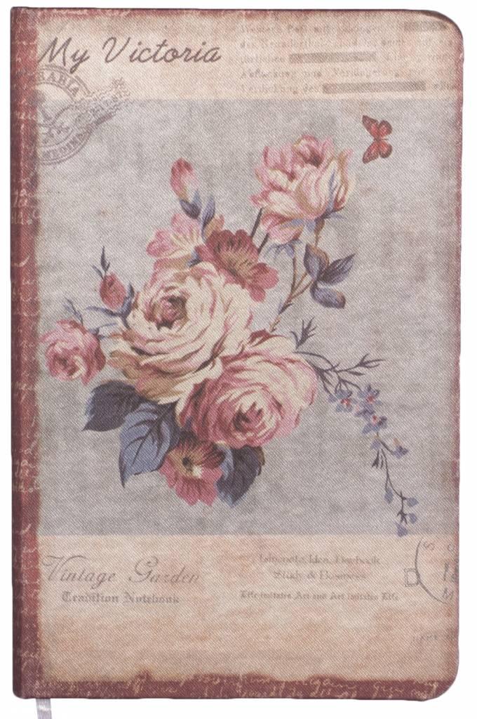 Dreamnotes Dreamnotes notitieboek mijn Victoria: paars roze roos 9 x 14 cm