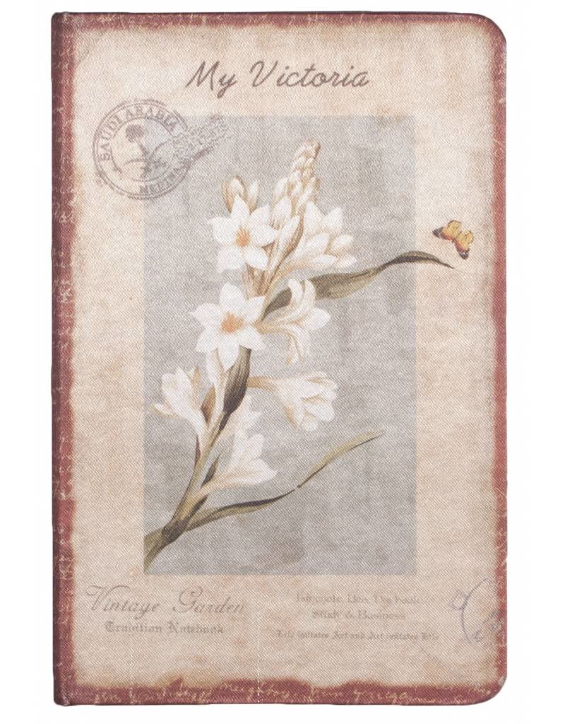 Dreamnotes D8025-4 Dreamnotes notitieboek mijn Victoria: witte orchidee 9 x 14 cm