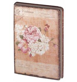 Dreamnotes D8025-1 Dreamnotes notitieboek mijn Victoria: roze roos 9 x 14 cm