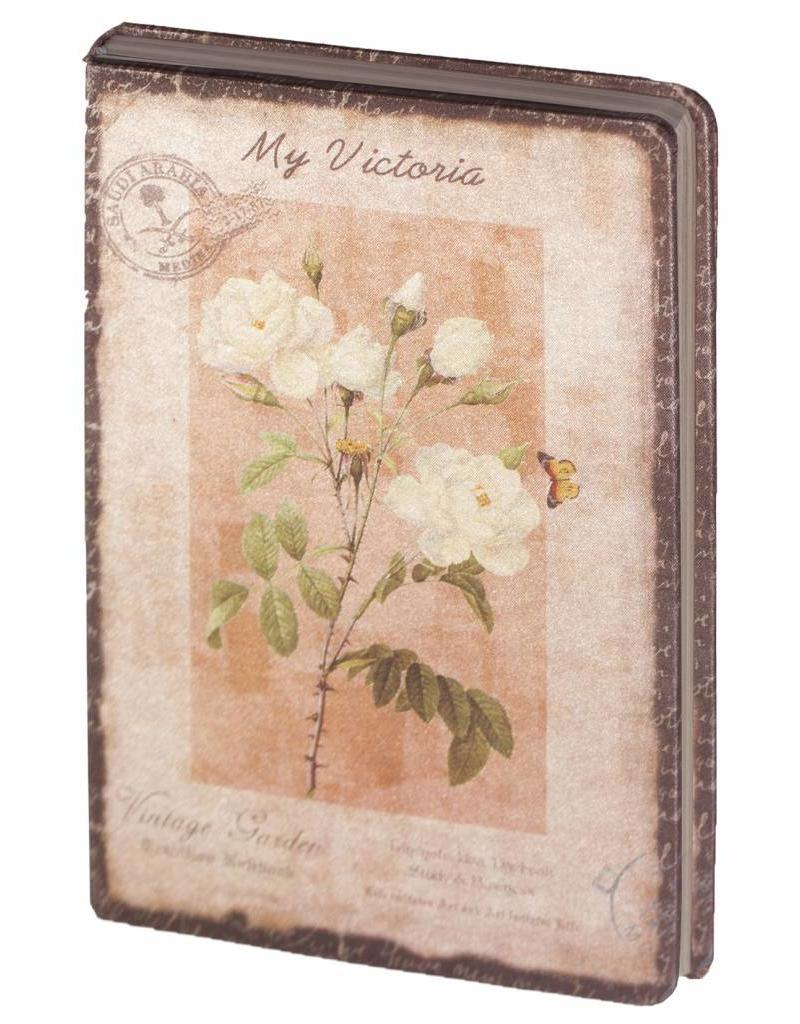Dreamnotes D8025-2 Dreamnotes notitieboek mijn Victoria: gele roos 9 x 14 cm