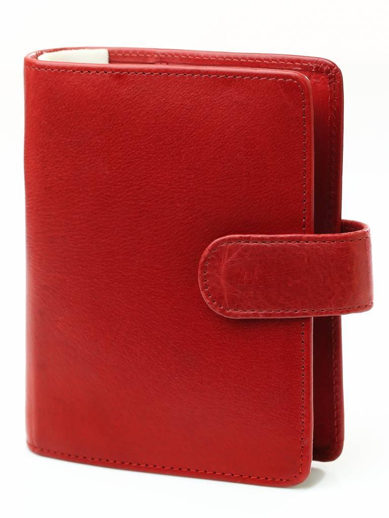 Kalpa 1311-Rd Kalpa Pocket organiser Burnish red - leather + free agenda