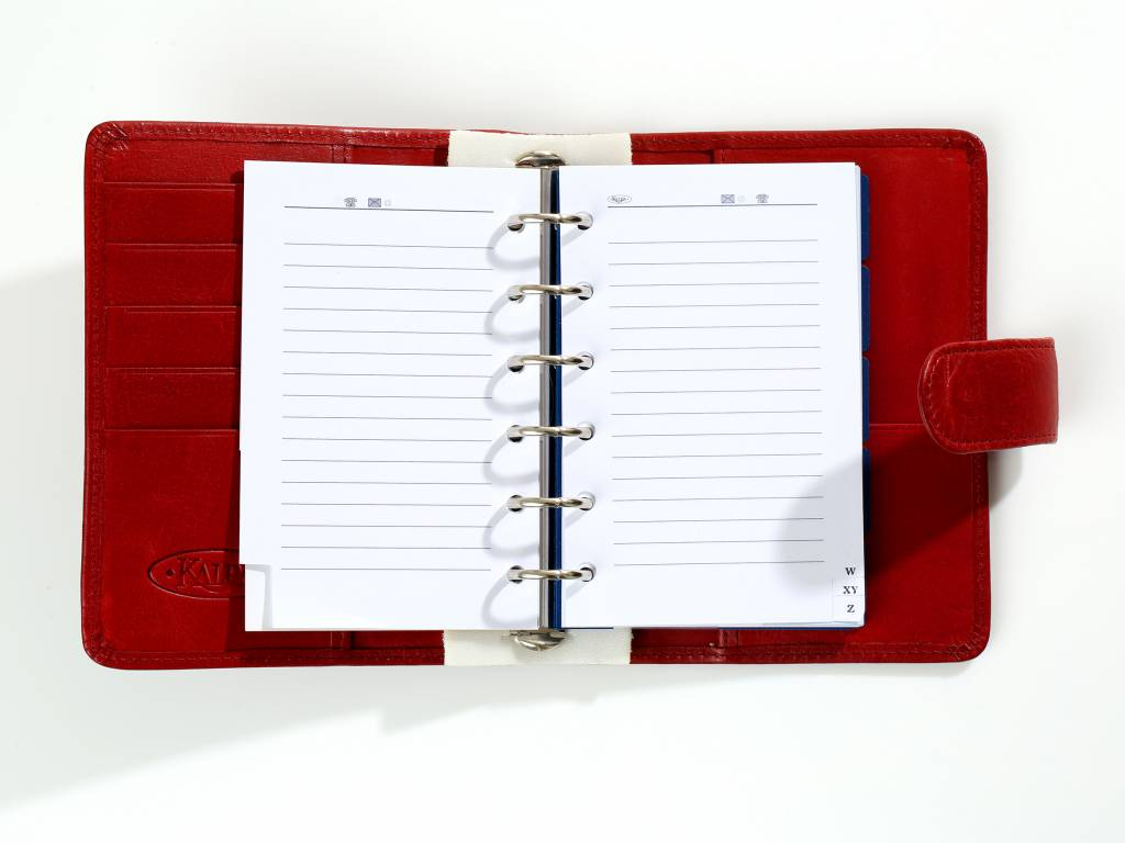 Kalpa 1311-97 Kalpa Junior Pocket Organiser With Paper Fillers, Weekly Planner, Journal, Diary - Pica Red