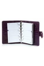 Kalpa 1311-Ck Kalpa pocket organiser Crocoprint purple - leather + free agenda