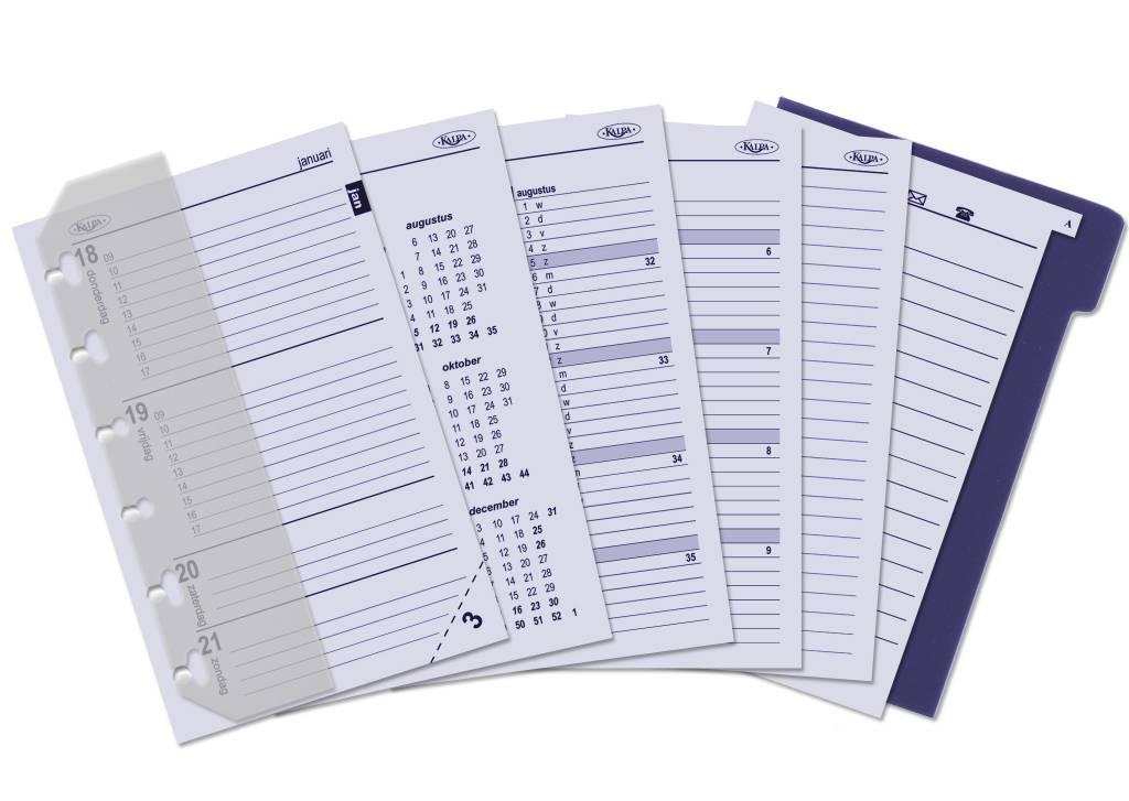 Kalpa 1311-55 Kalpa Junior Pocket Organiser With Paper Fillers, Weekly Planner, Journal, Diary - Woven Black
