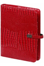 Kalpa Kalpa A5 organizer Gloss Croco rood + gratis jaarinhoud