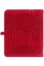 Kalpa Kalpa A5 organizer Gloss Croco rood