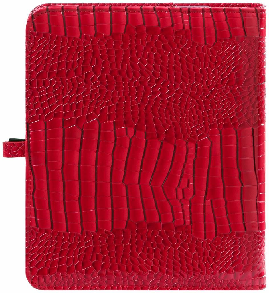 Kalpa 1011-62 Kalpa A5 organiser gloss croco red + free agenda