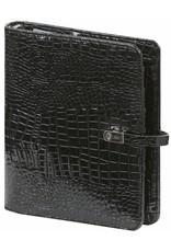 Kalpa Kalpa A5 organizer Gloss Croco zwart