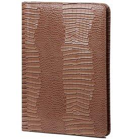 Kalpa 2400-63 Alpstein writing case rits Gloss Croco Taupe