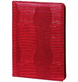 Kalpa 2400-62 Alpstein schrijfmap rits Gloss Croco rood