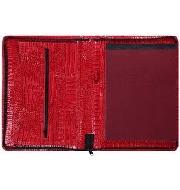 Kalpa 2400-62 Kalpa Alpstein schrijfmap rits gloss croco rood