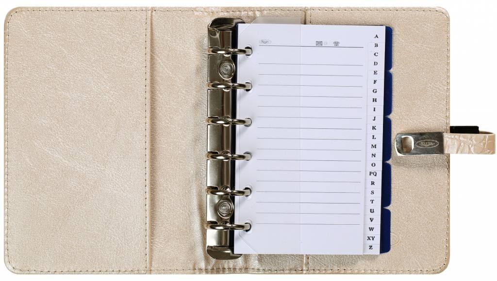 Kalpa 1311-65 Kalpa Junior Pocket Organiser with Paper Fillers, Weekly Planner, Journal, Diary - Croco Pearl