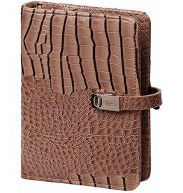 Kalpa 1311-63 Kalpa Junior Pocket Organiser with Paper Fillers, Weekly Planner, Journal, Diary - Gloss Crock Taupe