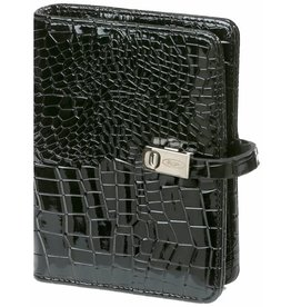 Kalpa 1311-61 Pocket organizer Gloss Croco Zwart