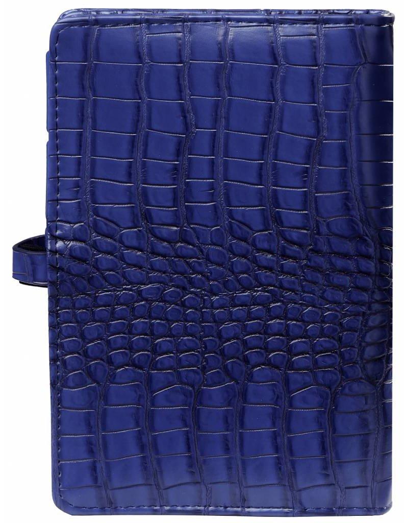Kalpa Kalpa personal organiser cobalt croco blauw + gratis jaarinhoud