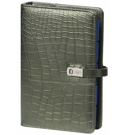 Kalpa 1111-66 Kalpa Personal Organisers Leather with Paper Filler Weekly Planner, Journal, Diary - Croco Moss