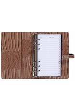 Kalpa 1111-63 Kalpa Personal Organisers Leather with Paper Filler Weekly Planner, Journal, Diary - Gloss Crock Taupe