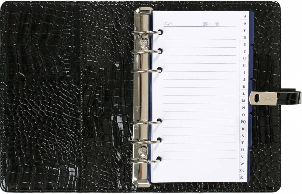 Kalpa 1111-61 Kalpa personal organiser gloss croco black + free agenda