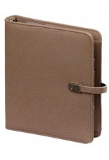 Kalpa 1011-64 Kalpa A5 Organiser Faux Leather With Paper Fillers Weekly Planner, Journal, Diary - Taupe