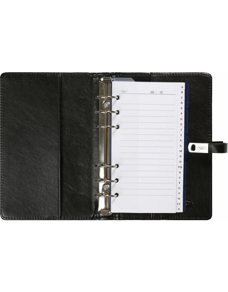 Kalpa Kalpa Alpstein writing case zipper and Kalpa personal organiser pullup black + free agenda