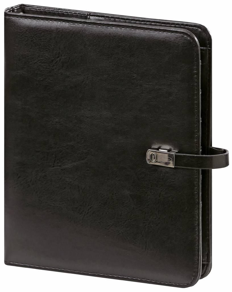 Kalpa Kalpa A4 Organiser Alpstein Writing Case Zipper with Paper Fillers, Free Kalpa A5 Organiser - Black