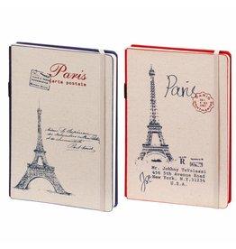 D8019-2P 2 stuks A5 Notebook Paris 21 x 15 cm Blue and Red 254 p