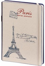 Dreamnotes D8019-2P 2 stuks A5 Notebook Paris 21 x 15 cm Blue and Red 254 p