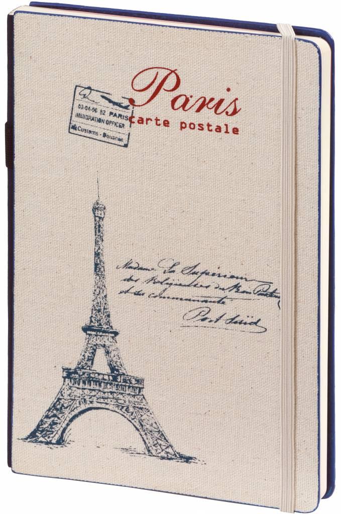 Dreamnotes 2 stuks A5 Notebook Paris 21 x 15 cm Blue and Red 254 p