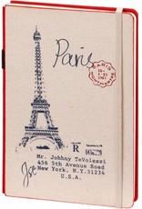Dreamnotes D8019-R A5 Notebook Paris 21 x 15 cm Red 254 p