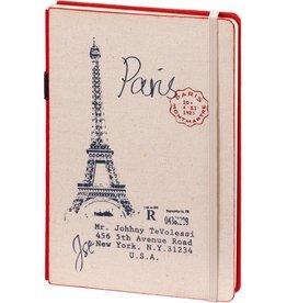 D8019-R A5 Notebook Paris 21 x 15 cm Red 254 p
