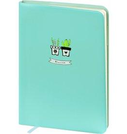 D6066-2 A6 Agenda-Notebook Blossom 17 x 12 cm Sea Blue 226 p