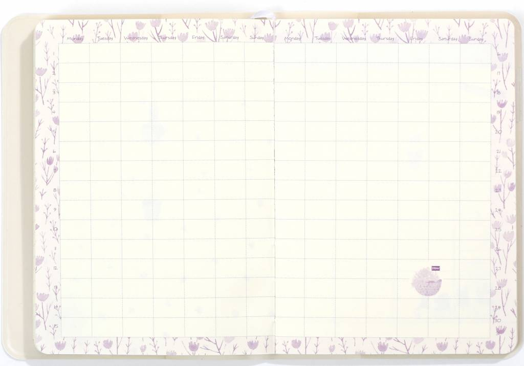 Dreamnotes D6066-3 A6 Agenda-Notebook Blossom 17 x 12 cm Soft White 226 p