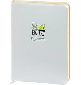 D6066-3 A6 Agenda-Notebook Blossom 17 x 12 cm Soft White 226 p