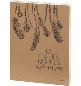Dreamnotes D3900 Sketchbook Feathers 26 x 19 cm 240 p