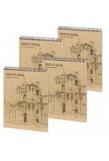 D5051-P4 4 stuks A4 Sketchbook Wonderful 30 x 22 cm 50 p