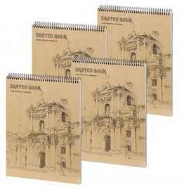 D5052-P4 4 stuks A4 Sketchbook Wonderful 36 x 25 cm 50 p