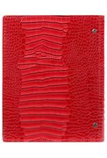 Kalpa Personal compact organizer Gloss Croco rood