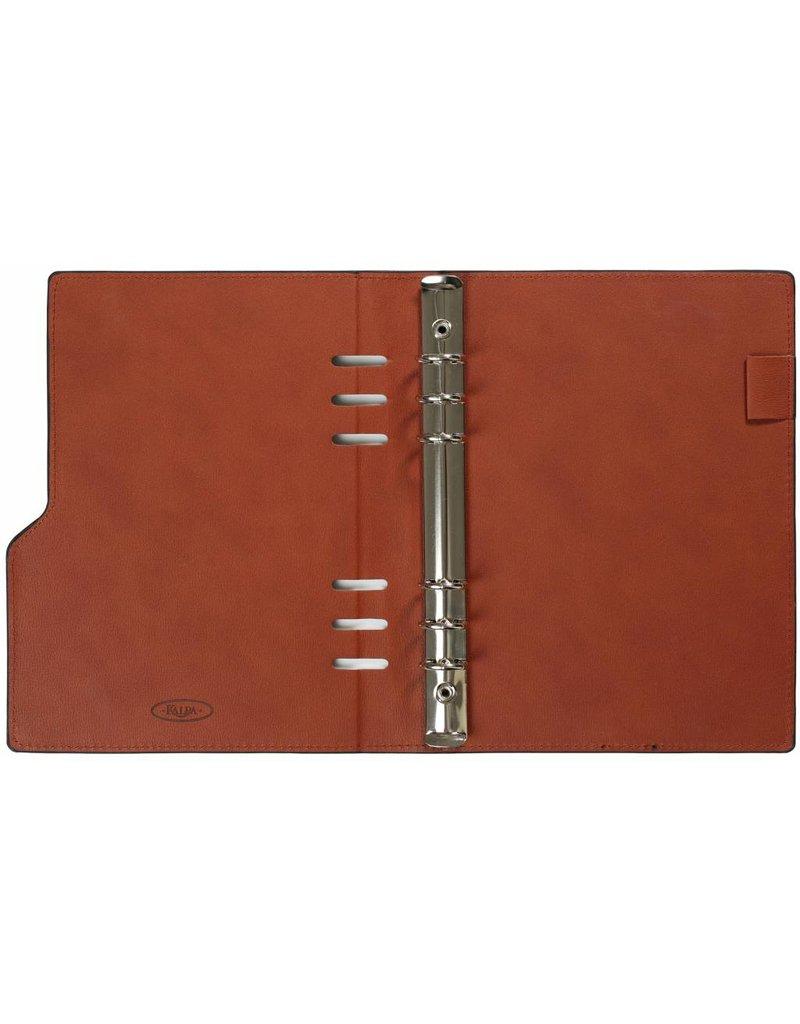 Kalpa 1016-60 A5 taupe compact organiser gloss croco
