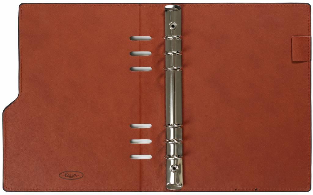 Kalpa 1016-63 A5 taupe compact organiser gloss croco