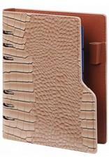 Kalpa 1116-63 personal taupe compact organiser gloss croco + free agenda