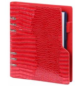 Kalpa 1016-62 Kalpa A5 compacte Croco rood organizer