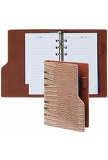 Kalpa Personal compact organizer Gloss Croco Taupe + gratis inhoud