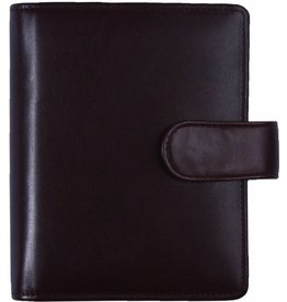 Kalpa 1311-Rb Kalpa pocket rose brown leather organiser + free agenda - Copy