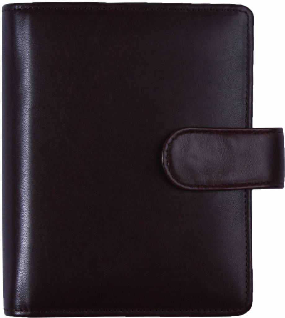 Kalpa 1311-Rb Kalpa pocket rose brown leather organiser + free agenda - Copy