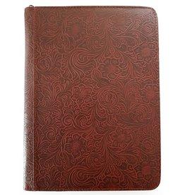 Kalpa 2400-48 A4 schrijfmap Alpstein Flowergarden Bordeaux