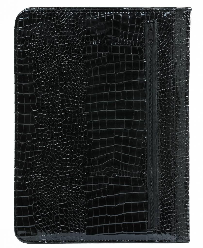 Kalpa 2400-61 Kalpa Alpstein writing case with zip gloss-croco black