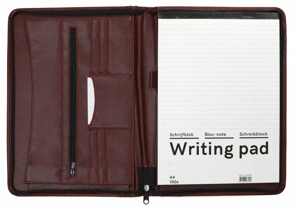 Kalpa Kalpa Alpstein writing case with zipburgundy