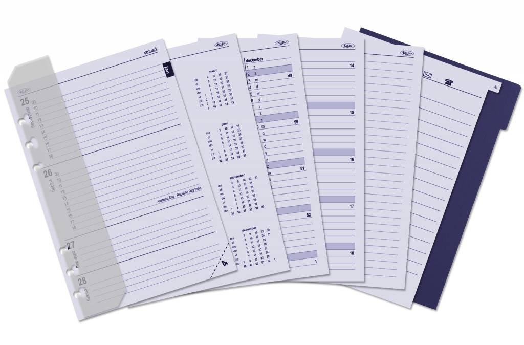 Kalpa Kalpa A4 Alpstein Writing Case Zipper Organiser | 2018 & 2019 Filler Inside | Free Kalpa A5 Organiser - Black
